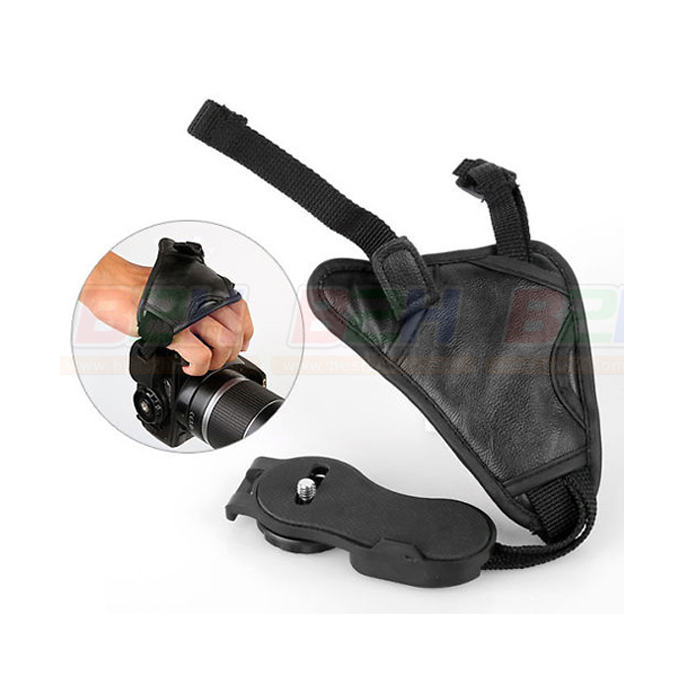 MATIN CAMERA BLACK LEATHER SOFT WIRIST STRAP/HAND GRIP M-6743
