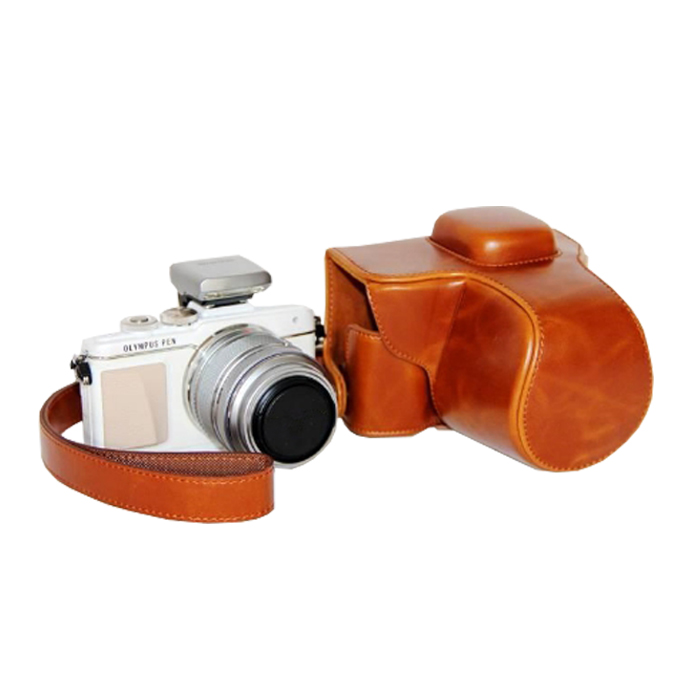Leather case bag strap for OLYMPUS PEN E-PL7