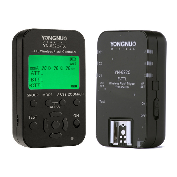 YONGNUO YN622C-KIT Wireless E-TTL Trigger with LED Screen for Canon