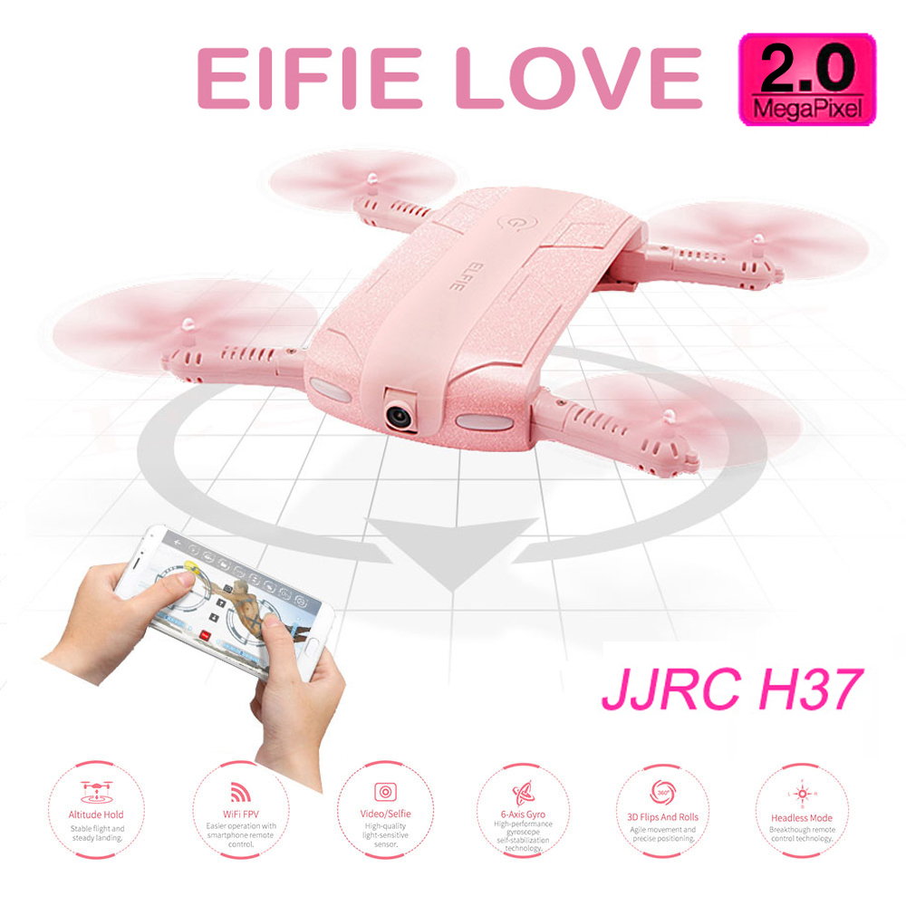 JJRC H37 Pink WIFI FPV RC Quadcopter Drone Selfie (2MP)