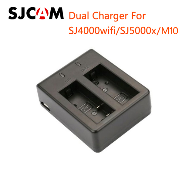 Dual Charger for SJ4000 WIFI/SJ5000x/M10