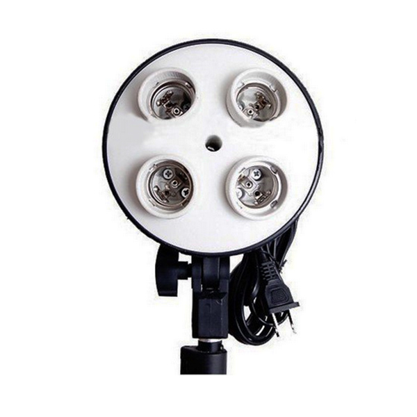 4Lamp light Stand Photo Lamp Bulb Holder Flash Umbrella Support Bracket