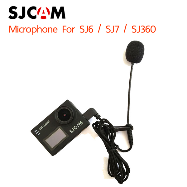 SJCAM Long External Microphone with Clip for SJ6 / SJ7 / SJ360 Sport Camera