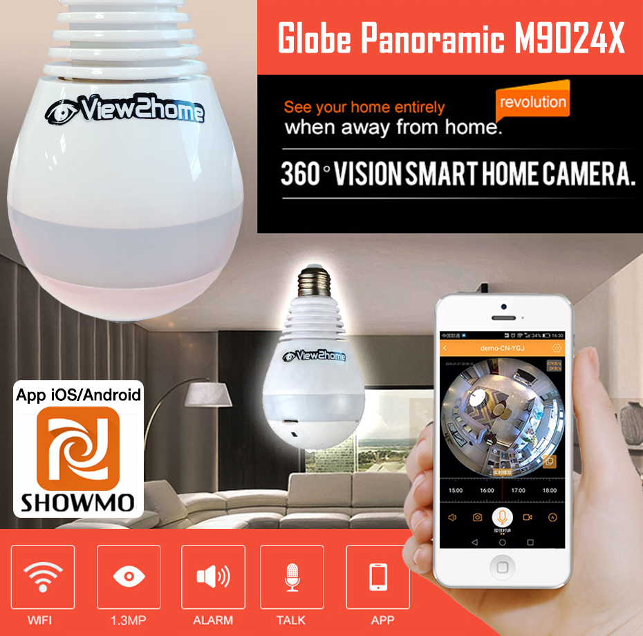 IP Camera Globe 360°C Panoramic V2H- M9024X (หลอดไฟ 1.3MP)