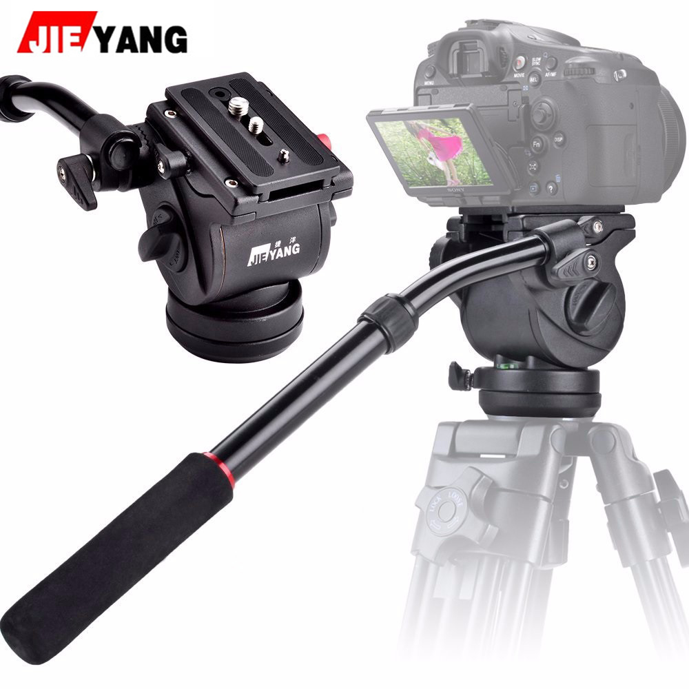 JIEYANG JY0506H Aluminum Alloy 5KG Professional Monopod for Video & Camera หัวแพน