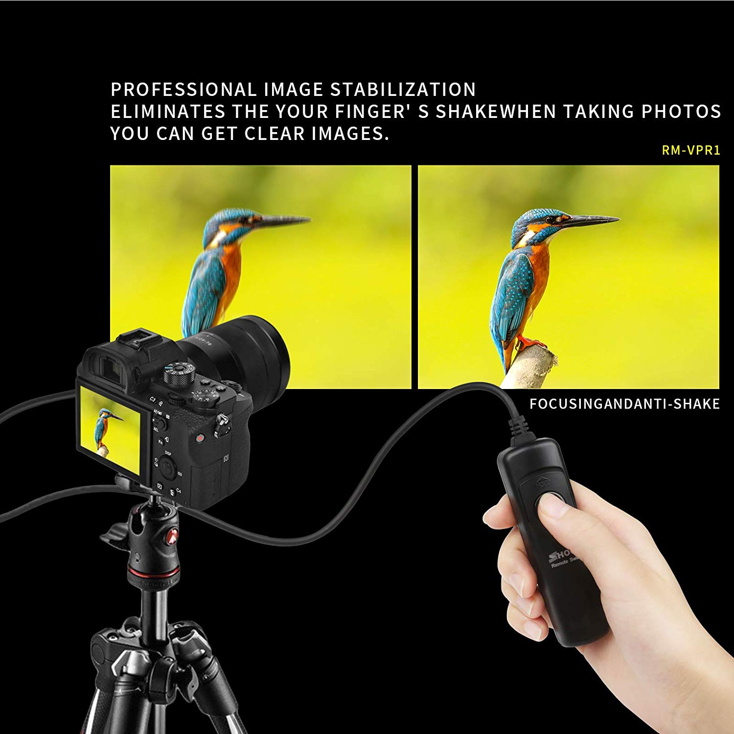 Remote Shutter Control Shoot RM-VPR1 for Sony Alpha A7r SLT-A58 A7 / A7II / A6000