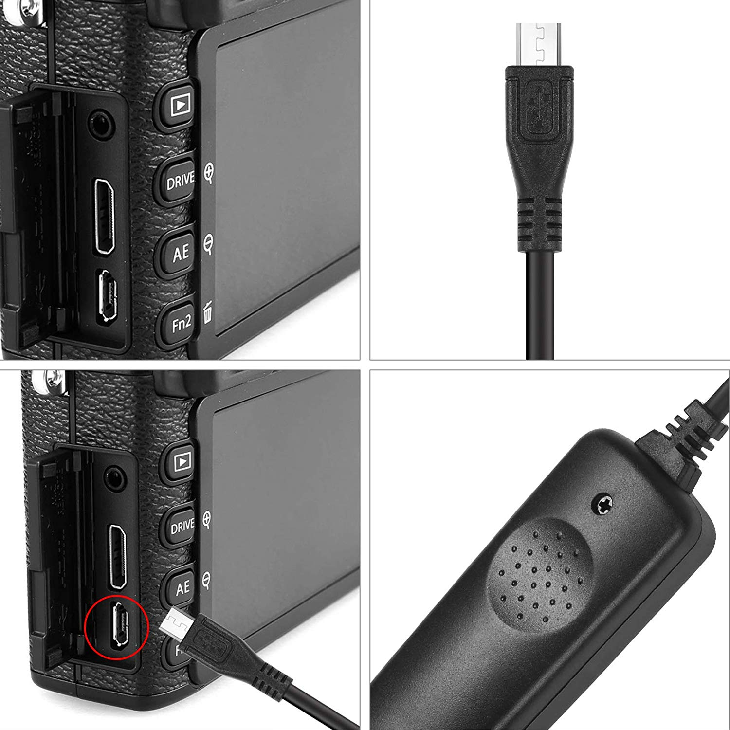 Shutter Release Cable Cord Wired Remote Control RR90 for Fuji X100,XE2, XA1/2/3/5/10, XT10,XT20