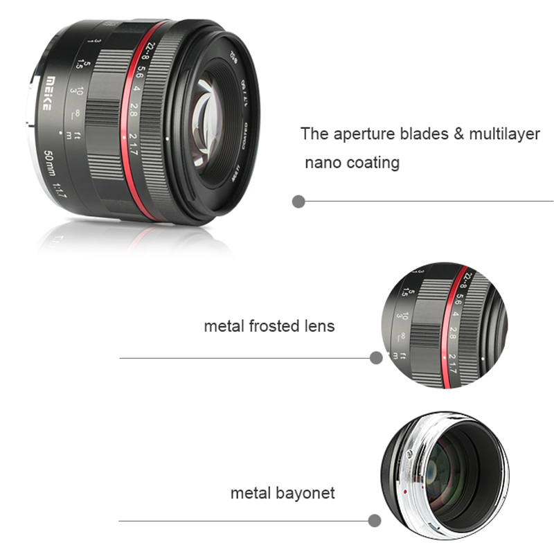Lens MEIKE 50mm F1.7 for Sony E-mount