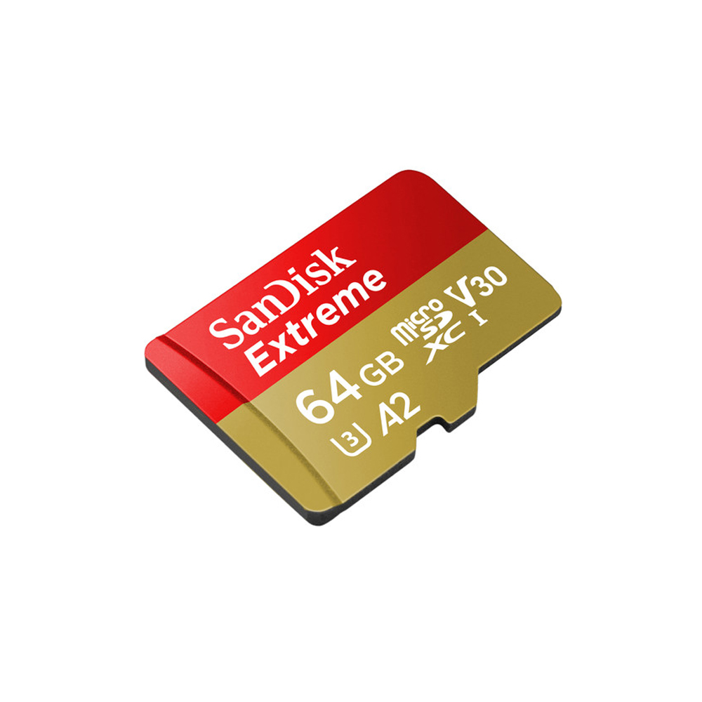 SanDisk EXTREME A2 UHS-I MicroSDXC 64GB 160MB/s 60MB/s with SD Adapter