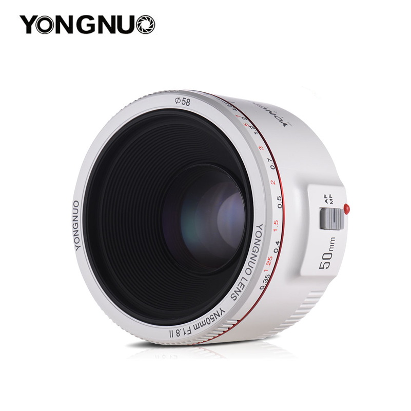 Yongnuo YN 50mm f/1.8 II for Canon EF (White)