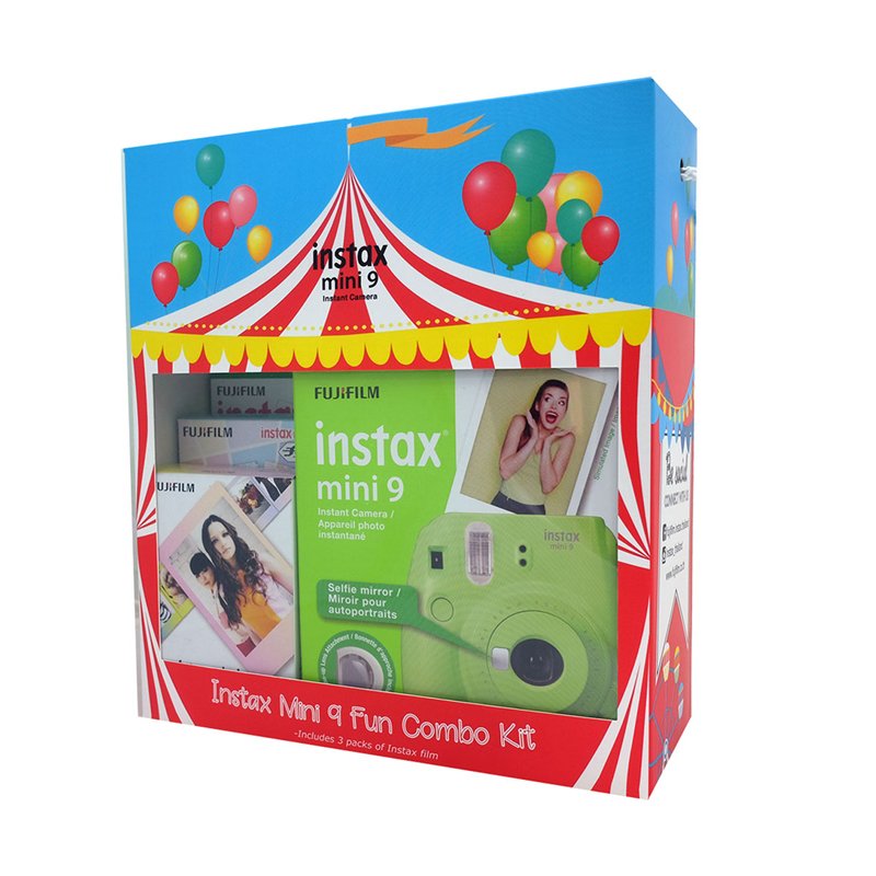 Fujifilm Instax Mini 9 Circus Fun Combo Kit
