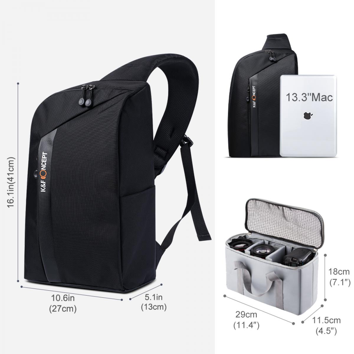 K&F Concept 13.090 DSLR Sling Camera Backpack