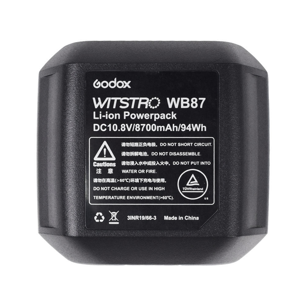 Godox WB87 Battery Pack DC 10.8V 8700mAh for Flash AD600 AD600BM AD600B AD600M