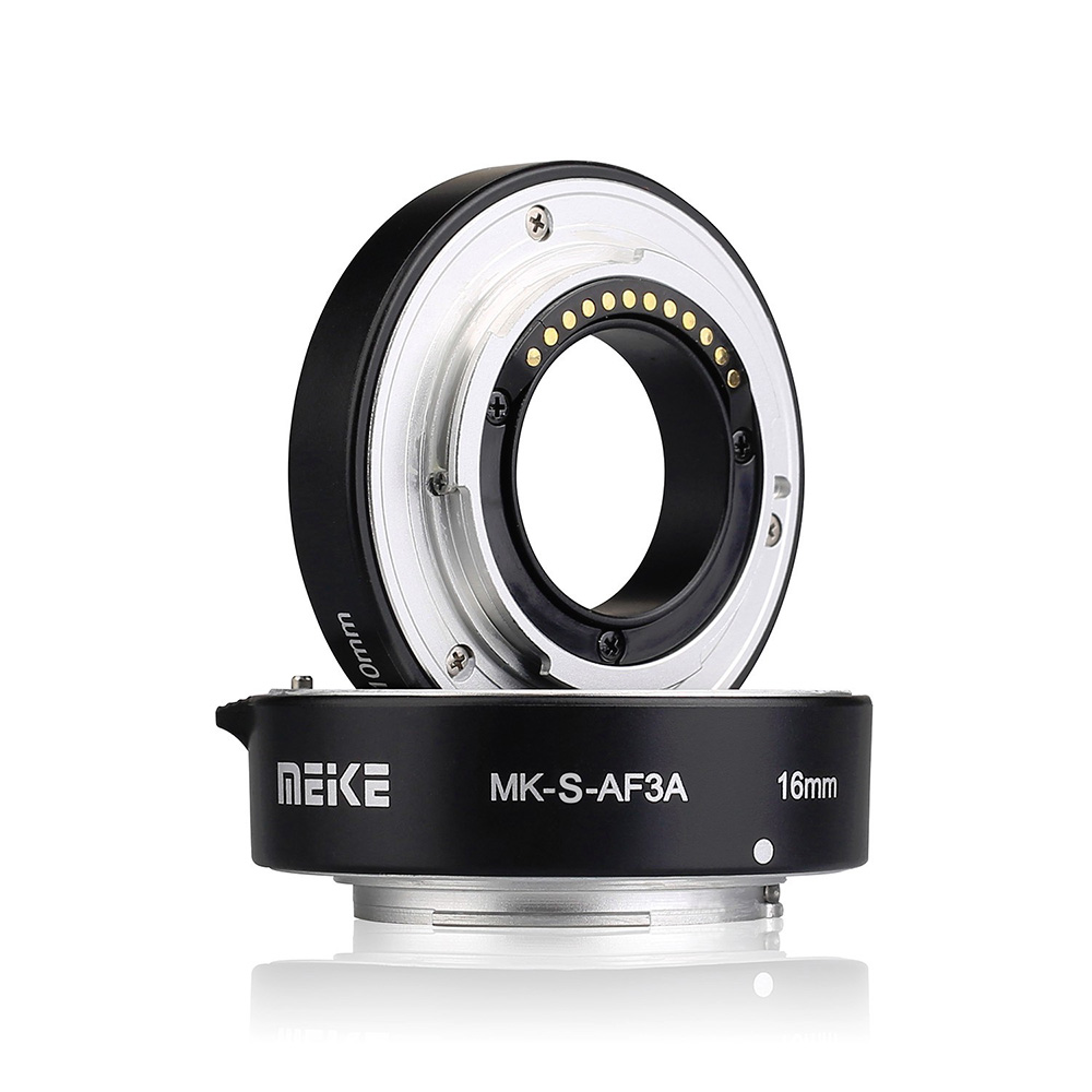 MEIKE MK-S-AF3A Metal Auto Macro Extension Tube Set for Sony