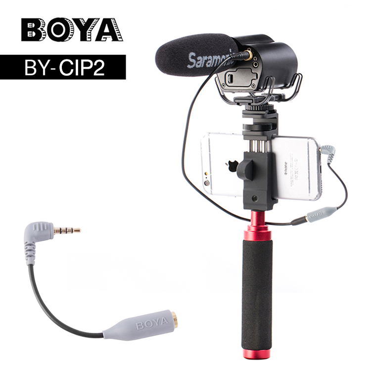 BOYA BY-CIP2 Smartphone Adapter 3.5mm,Microphone Cable