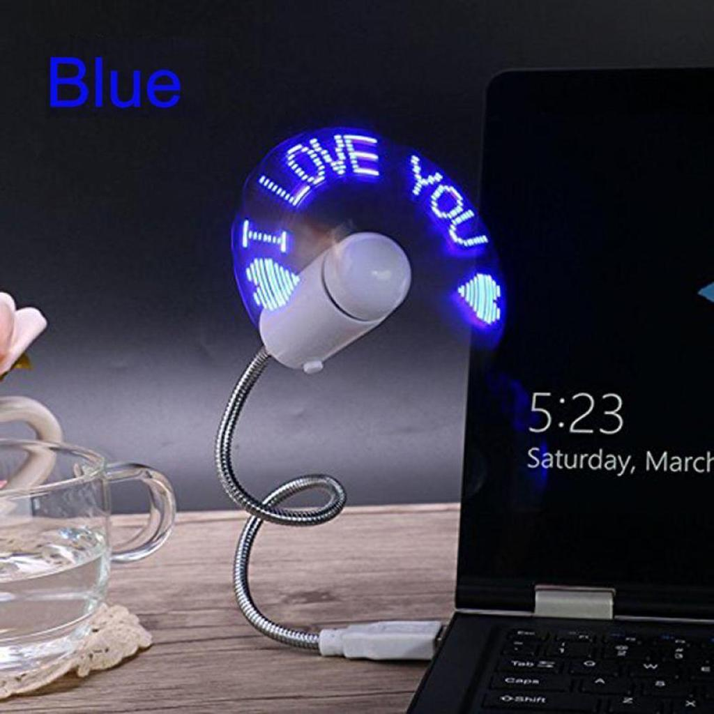 USB LED Flexible Fan Text for PC Notebook พัดลม