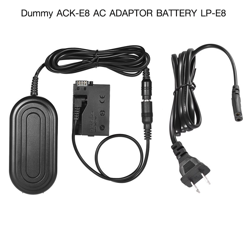 Dummy Battery ACK-E8 AC Adapter Battery LP-E8 for Canon 700D 650D 600D
