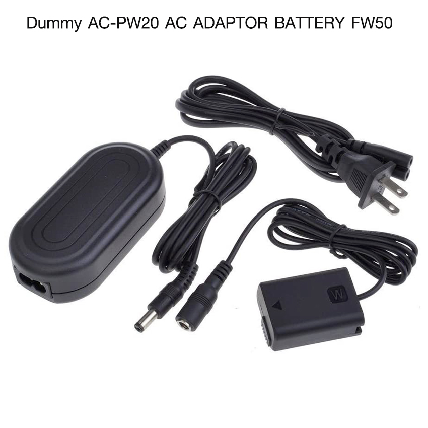 Dummy Battery AC-PW20 AC Adapter Battery FW50 for Sony A7/A7II//A6500/NEX7/RX10