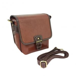 PU LEATHER 1 CAMERA/1LENS/ACC B113B DARK BROWN