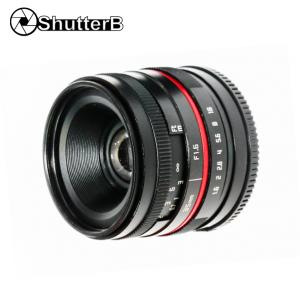 Lens Shutter B 35mm F1.6 for Micro Fuji X-Mount Manual Focus